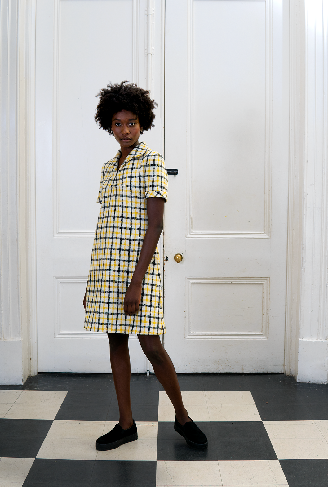 M Yellow Plaid Shift Dress.png