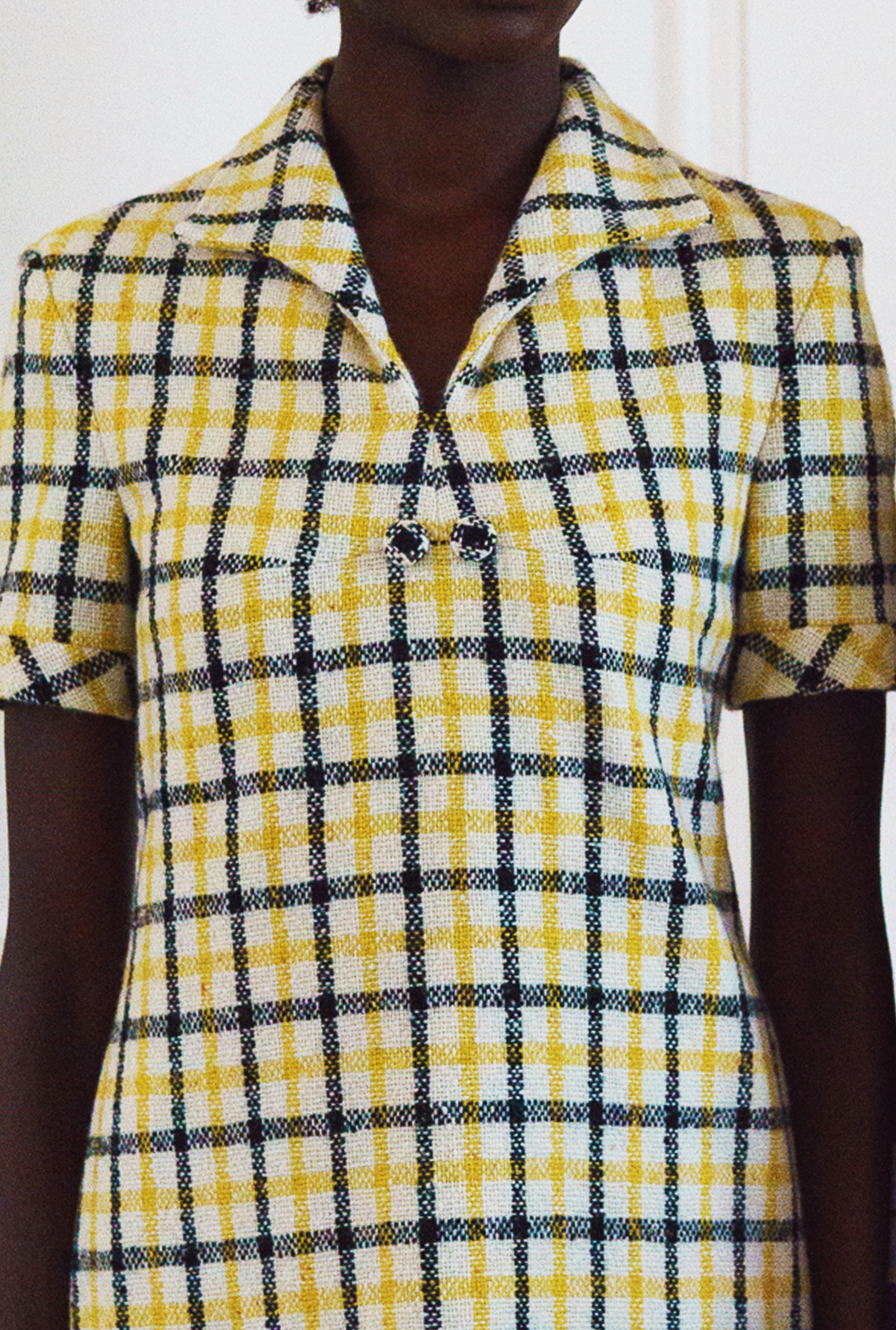 8 M Yellow Plaid Shift Dress Detail.png