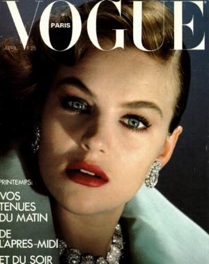 Gemma on the front cover of Vogue Paris