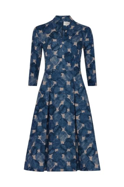 AW18 - Ready to Wear - Petrol Blue Fruit Dot Dress 3.jpg