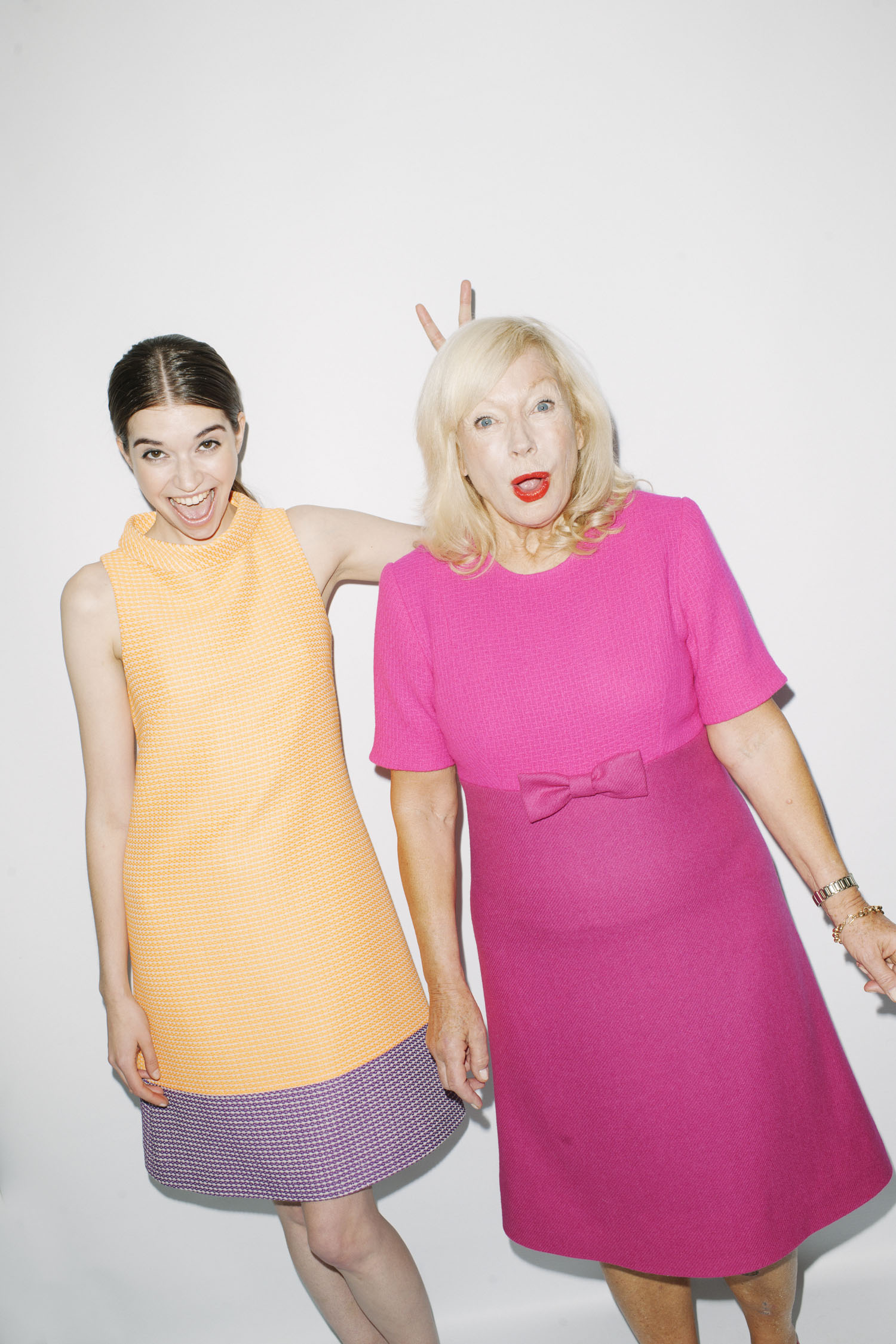 AW13: A Yellow Wool Dress with a Clashing Purple Trim