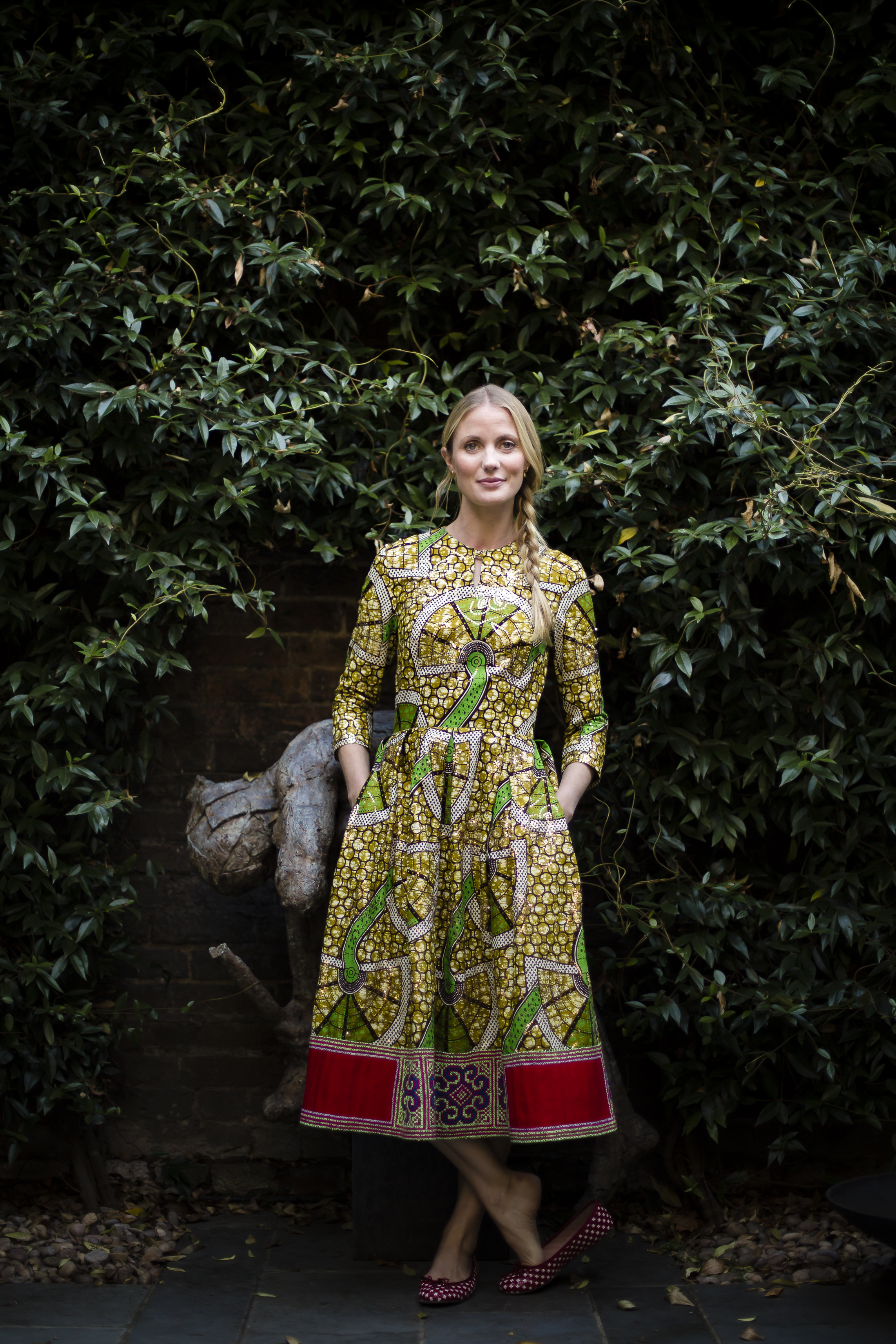 Eponine x Willow Crossley: An African Cotton Dress with a Clashing Hmong Trim