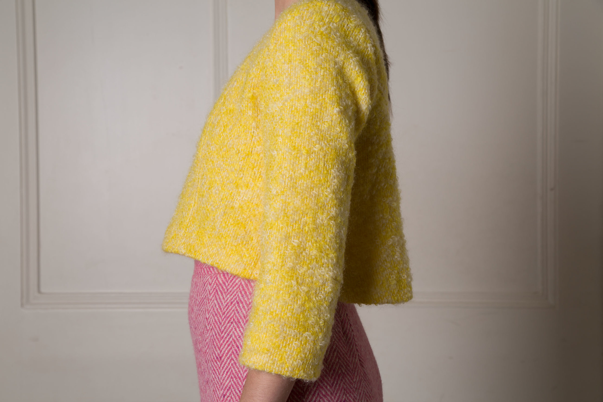 AW14: A Yellow Top with a Pink Suit for this Wool Suit