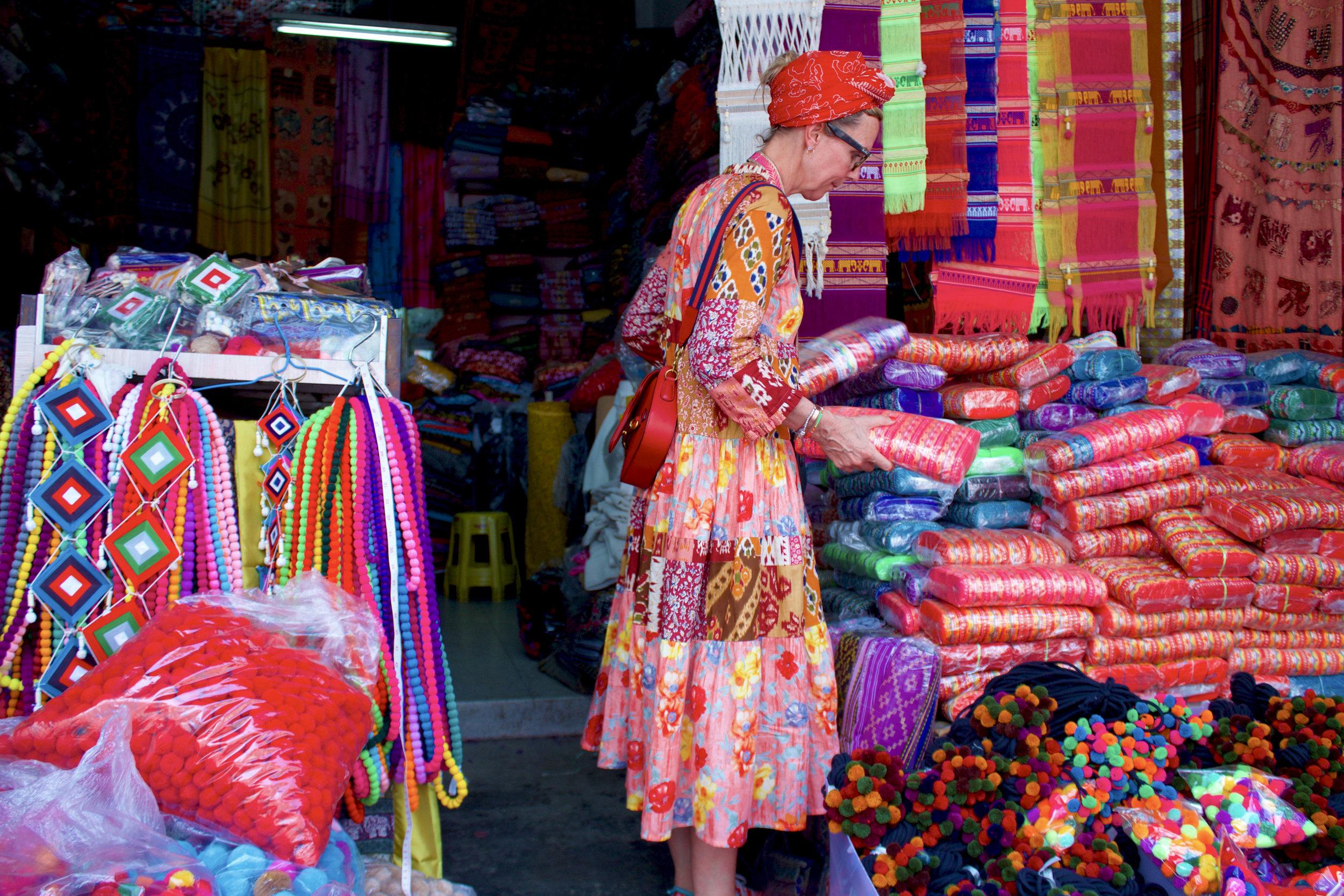 Ribbon shopping in Chiang Mai