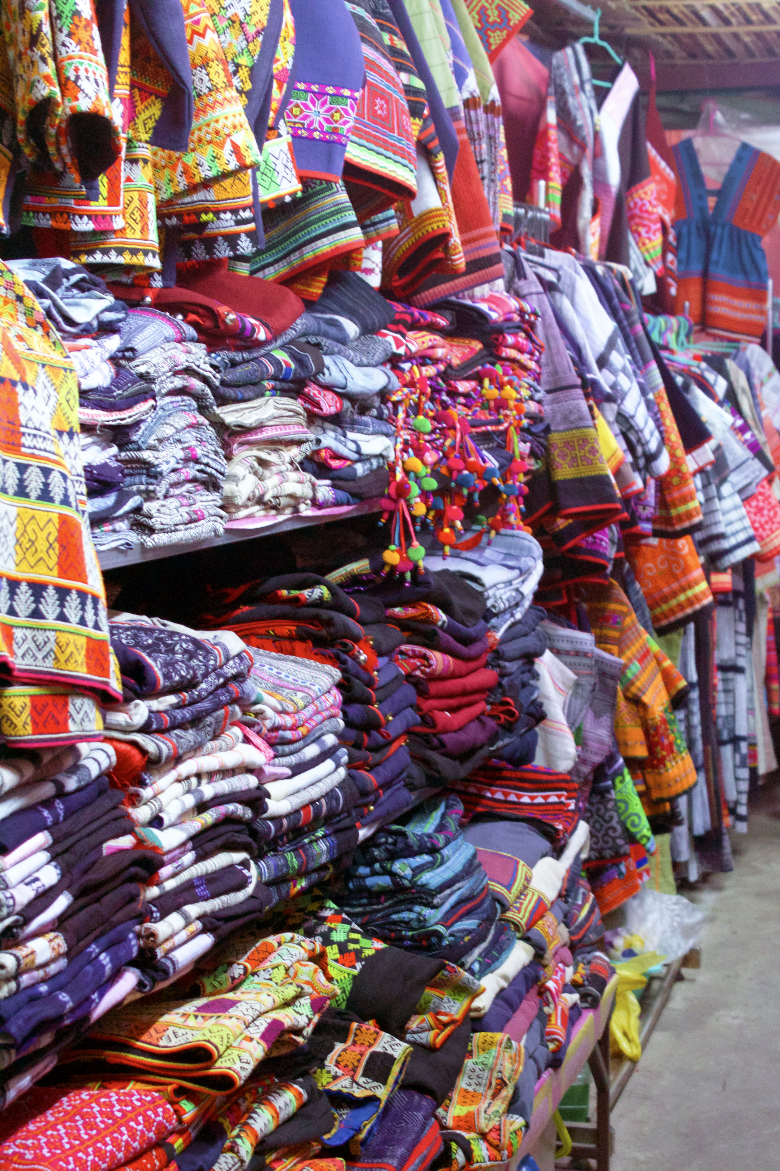 A colourful stall in Chiang Mai
