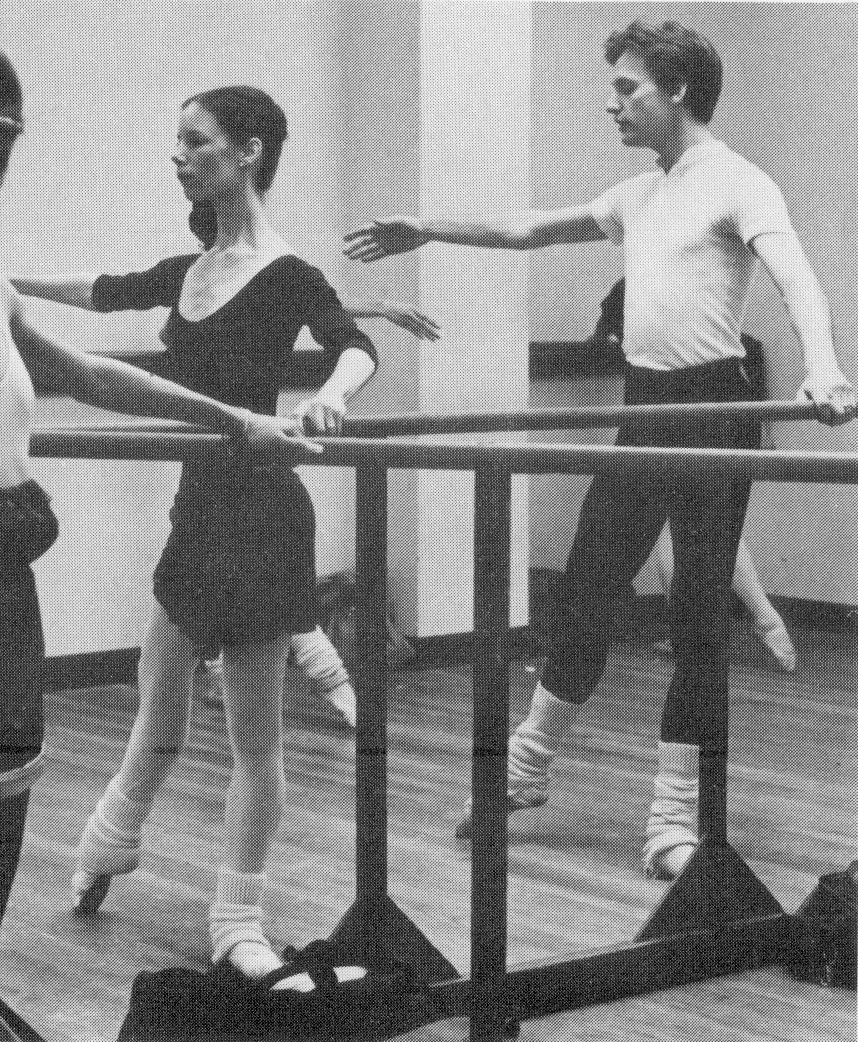 Eleanor and Rob Rogers sharing the barre circa 1981.
