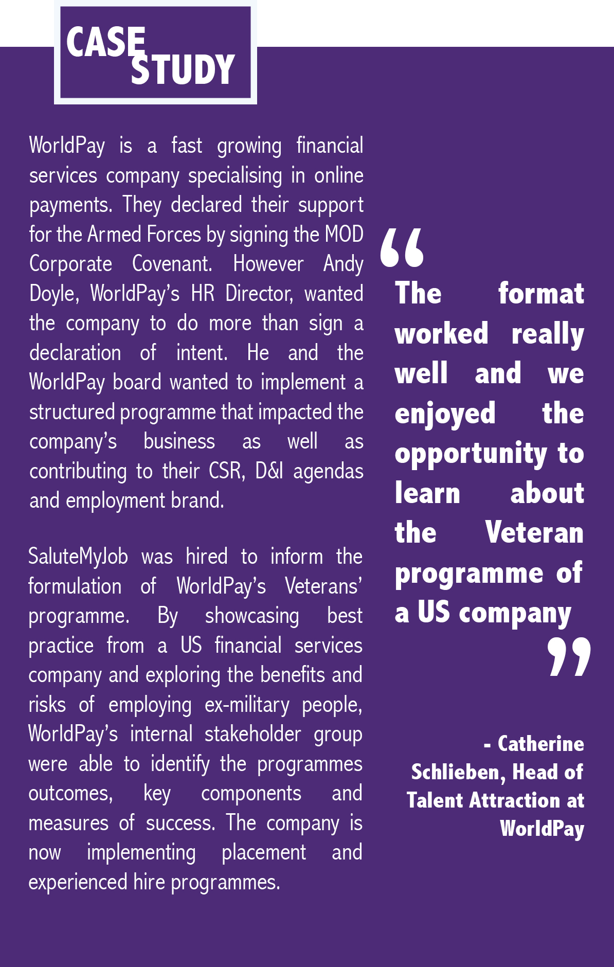 WorldPay Case Study
