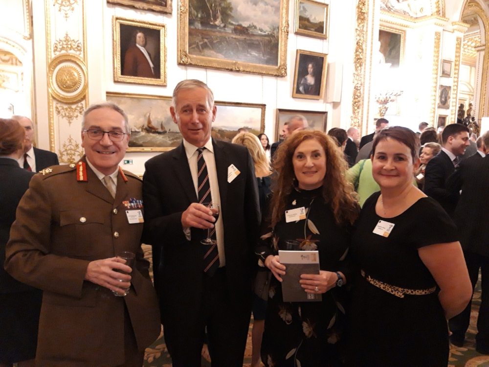 Lieutenant General Richard Nugee CVO CBE, Chief of Defence Personnel with the SMJ team