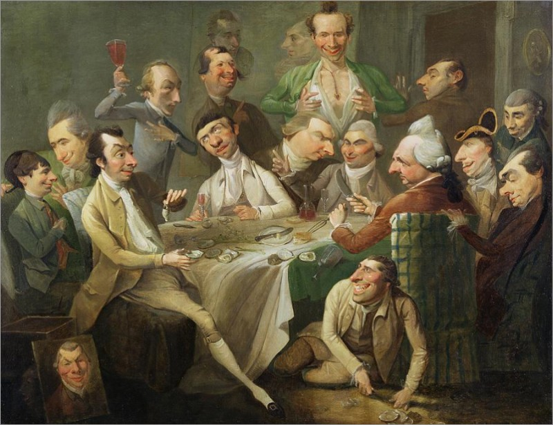 John Hamilton Mortimer - The Oyster Party - c. 1776