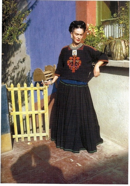 Frida at the Casa Azul (Blue House)...