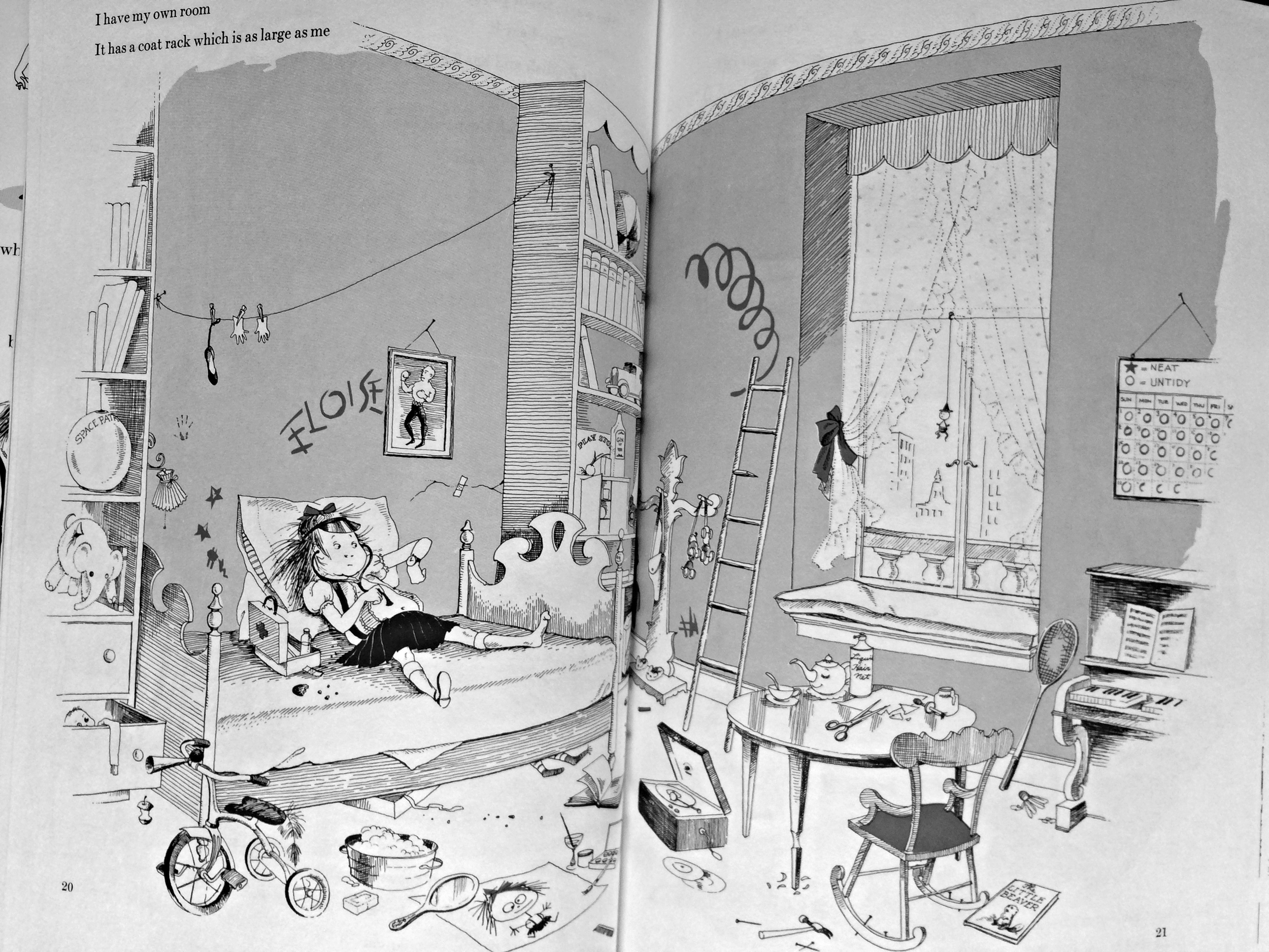 I am all for the real thing, but find  Eloise- inspired  bedrooms   rawther  gross.