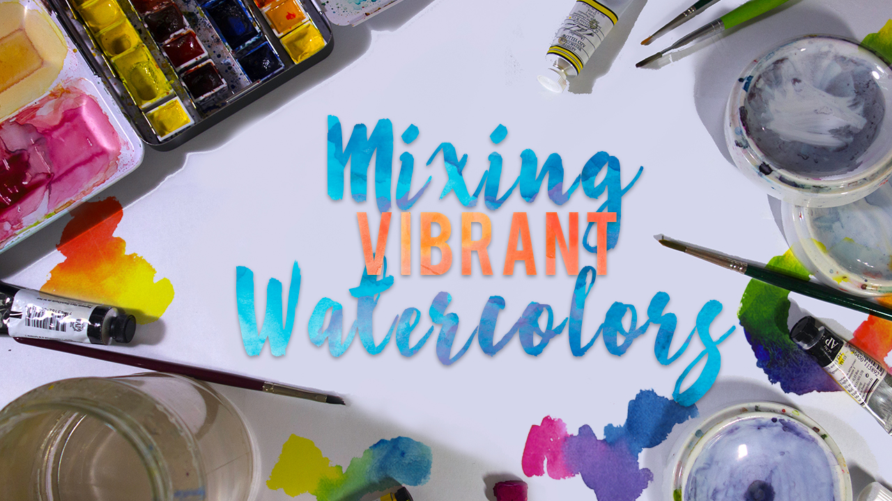 Mix Vibrant Watercolors : How to Mix Color Easily