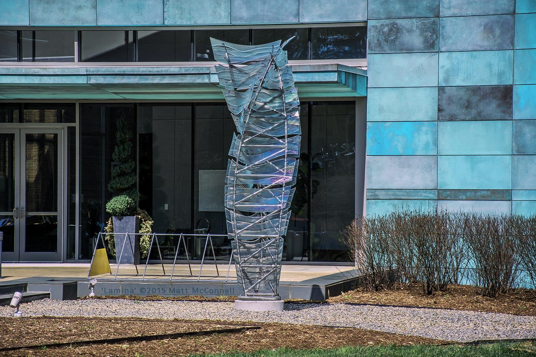 'Lamina'- Matt McConnell - Stainless Steel-Glass-14' x 4'8- x 4'8-_5.jpg