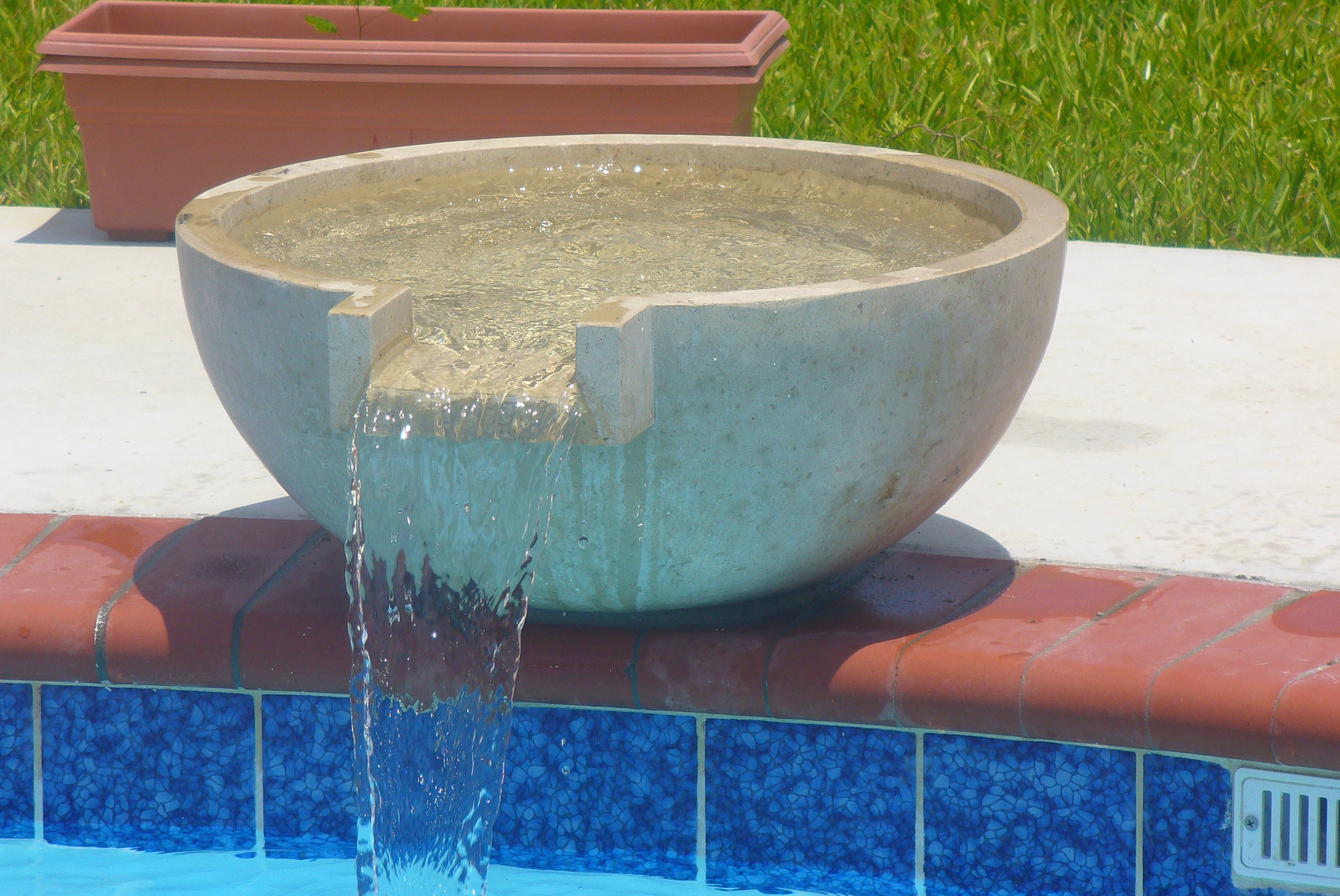 Bowl Scupper -  T he perfect way to add a splash of creativity to your pool area.