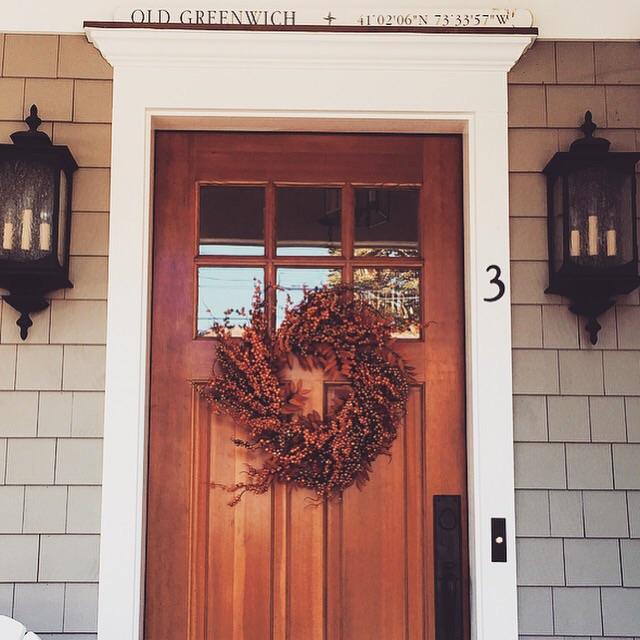 A seasonal wreath we kept from last year.