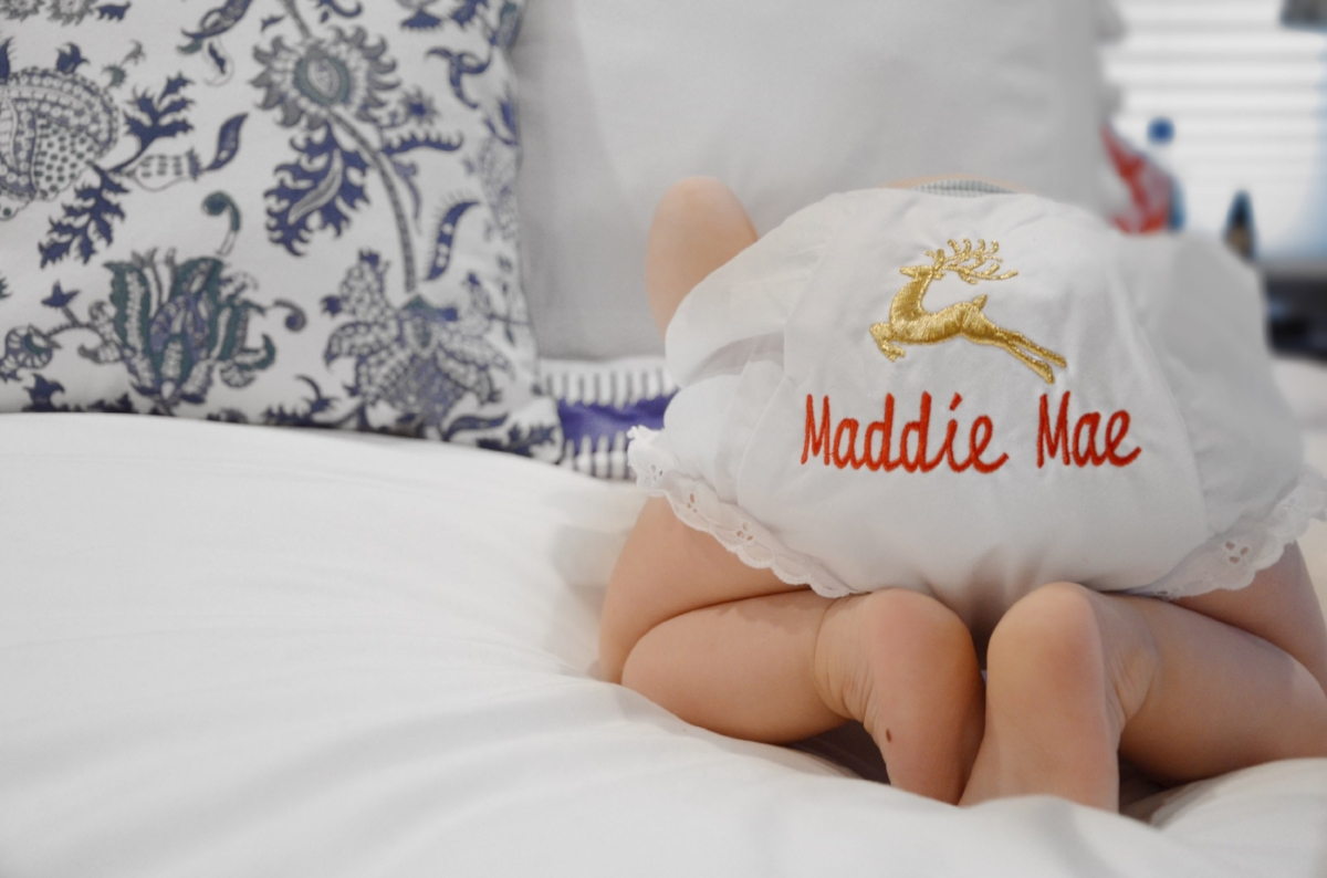 Monogram Mary monogrammed baby bloomers