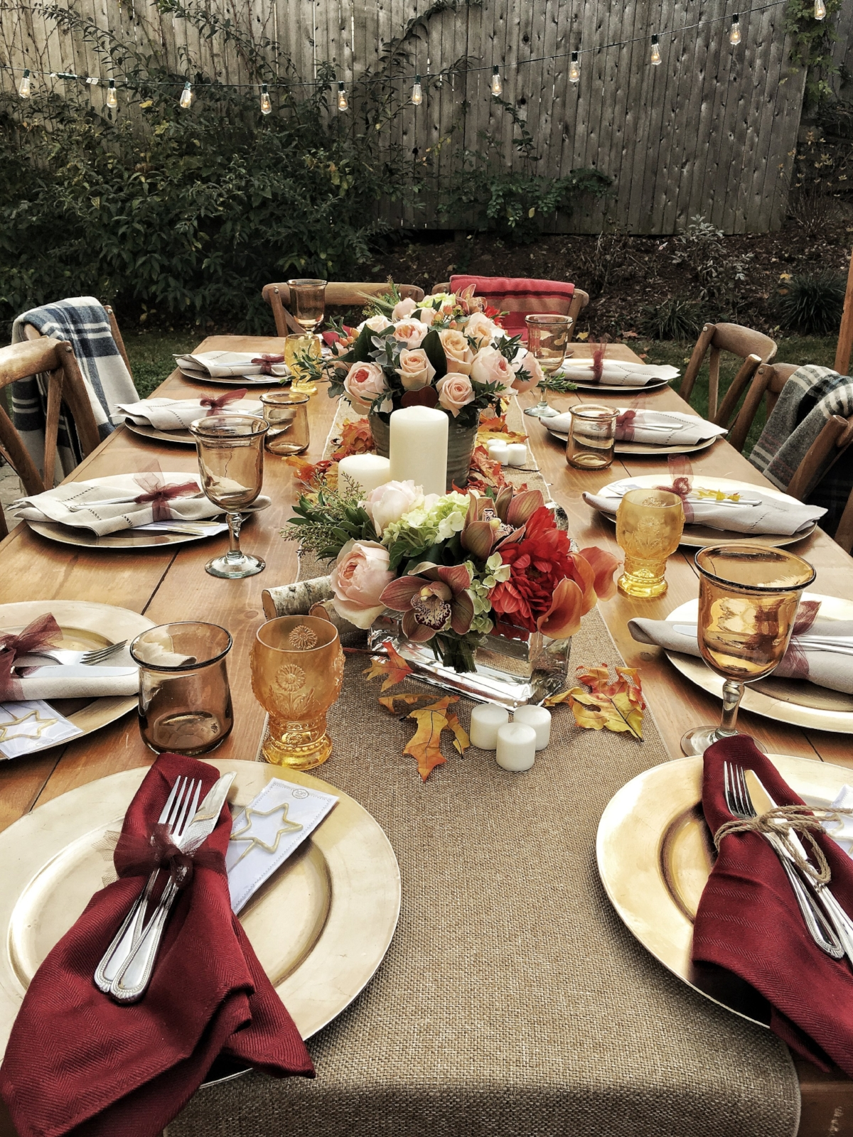 Fall Outdoor Dinner Party