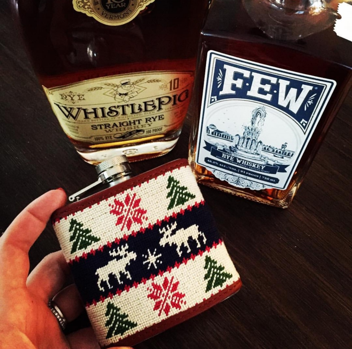{Needlepoint Flask found  here }