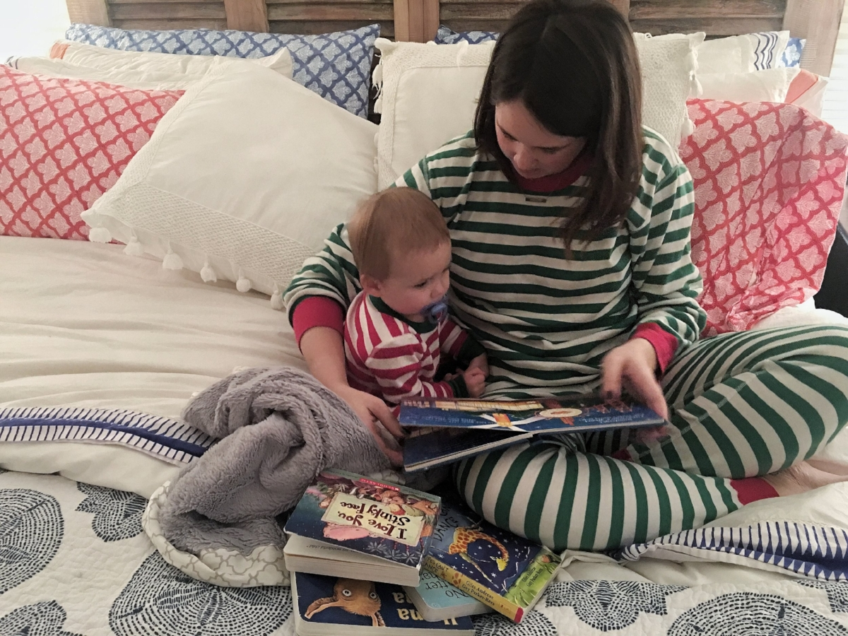 {Matching holiday PJs found  here }