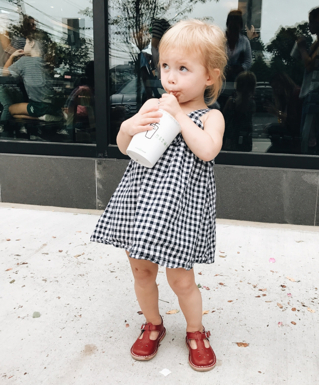 {My girl in her favorite ruby red slippers}