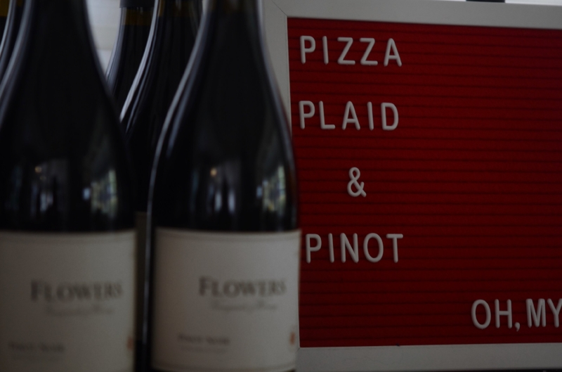 Pizza Plaid Pinot Lilies and Lambs