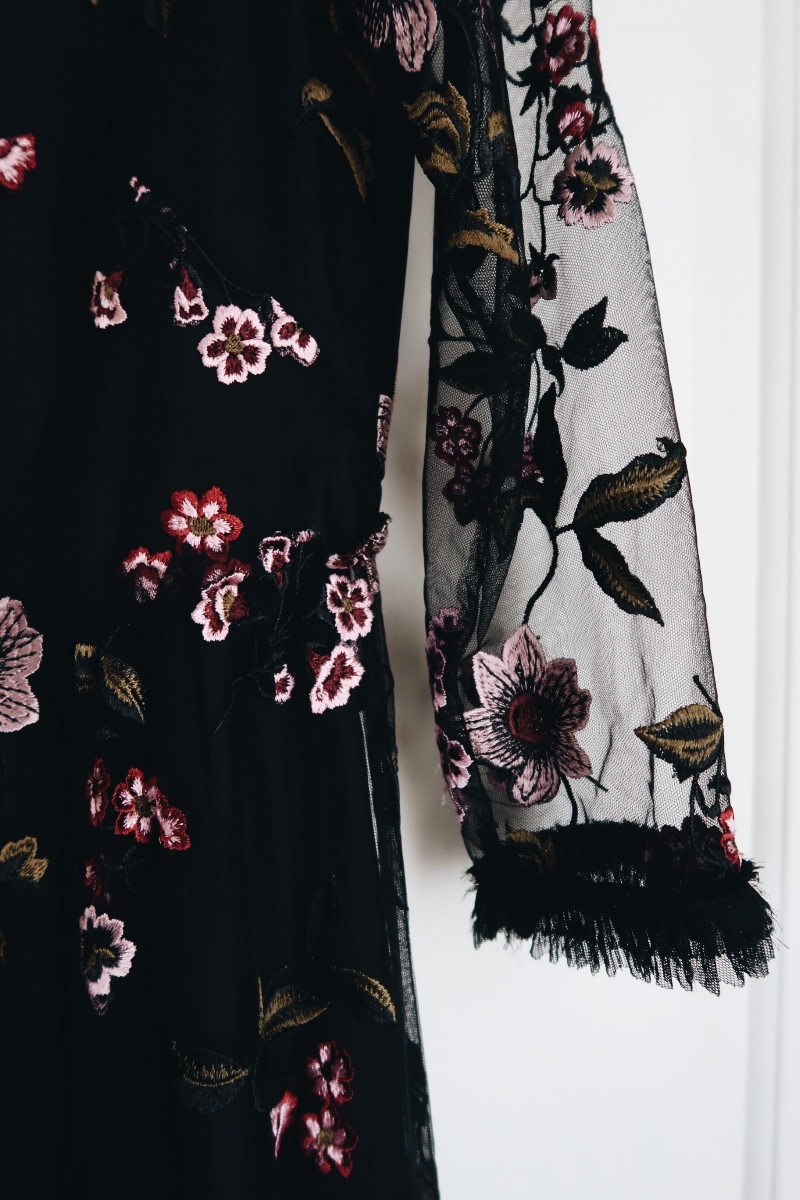 {Details from a dress I will be wearing to a black tie wedding this weekend}