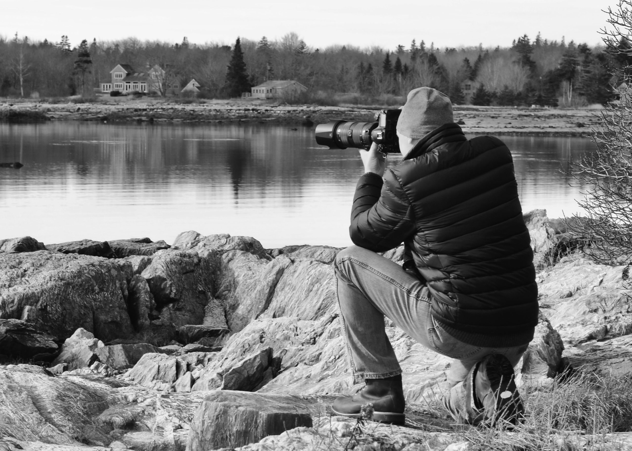 On location shooting in Maine, '16