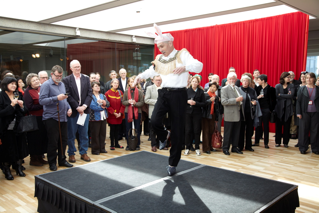 Yoshito Ohno performing at the opening of the exhibition,  Art Gallery of New South Wales, Sydney