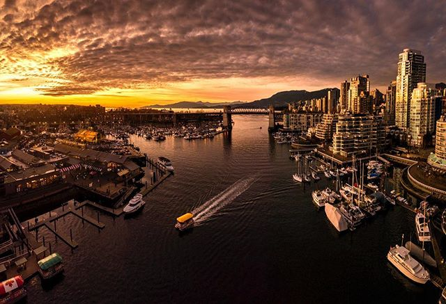 Sunset lighting up the skyscrapers on Monday evening. Wasn't expecting to get great light so I was shooting handheld panoramas on the bridge trying to stay steady and level 😅 Such beautiful light as the sun went down and seeing the colours bouncing back off the buildings was amazing! Nice to have a few seabuses in too 👍🏻 . . . #granvilleisland #sunset #falsecreek #hellobc #vancouver #seabus #vancitybuzz #vancouverisawesome #dailyhivevan #explorebc #canada #nikoncanada #vancouversun #pnw #greatnorthcollective #beautifulbc #narcityvan #vancityfeature #beautifuldestinations #insidecanada #imagesofcanada #vancouvercanada #BvSquad #vancitybuzz #igvancouver #vancouvergram #veryvancouver #vancouvercanada