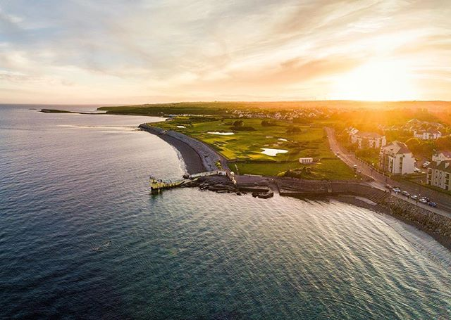 Drone flight over Galway Bay at sunset. Last drone flight in Galway before coming over to Canada last Summer. Love the vantage point from up high and checking out some new angles on familiar places 😊 . . . #galway #ireland #salthill #sunset #djiglobal #mymavic #mavicpro #fromwhereidrone #ig_ireland #loveireland #galway #thisisgalway #huaweisnapys #youririshadventure #igersireland #photooftheday #inspireland_ #rawireland #exploreadventureireland #irishpassion #instaireland #youririshadventure #topirelandphoto #ig_ireland #thewildatlanticway #irish_daily #visitireland #wanderireland #tourismireland #mavic_pro