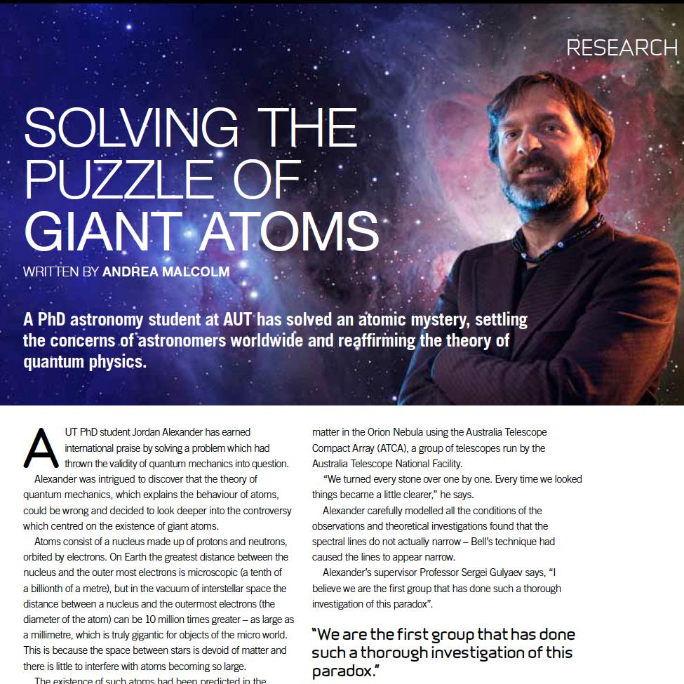 Auckland University of Techno  logy (Auckland)  publishes a quarterly alumni magazine. I edited the magazine, collaborated with designers and managed the magazine's production.