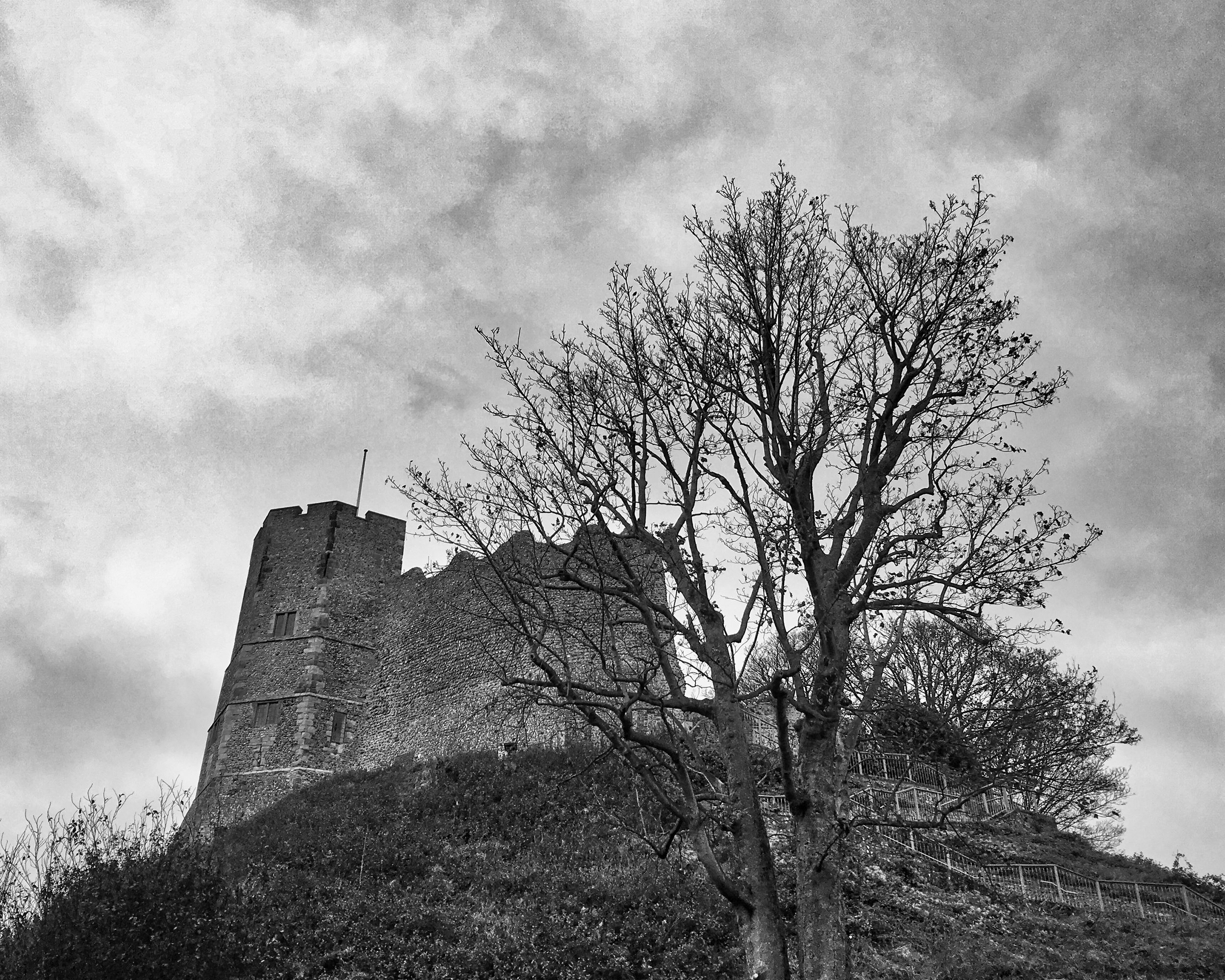 Lewes Castle on the Hill HDR B&W.jpeg