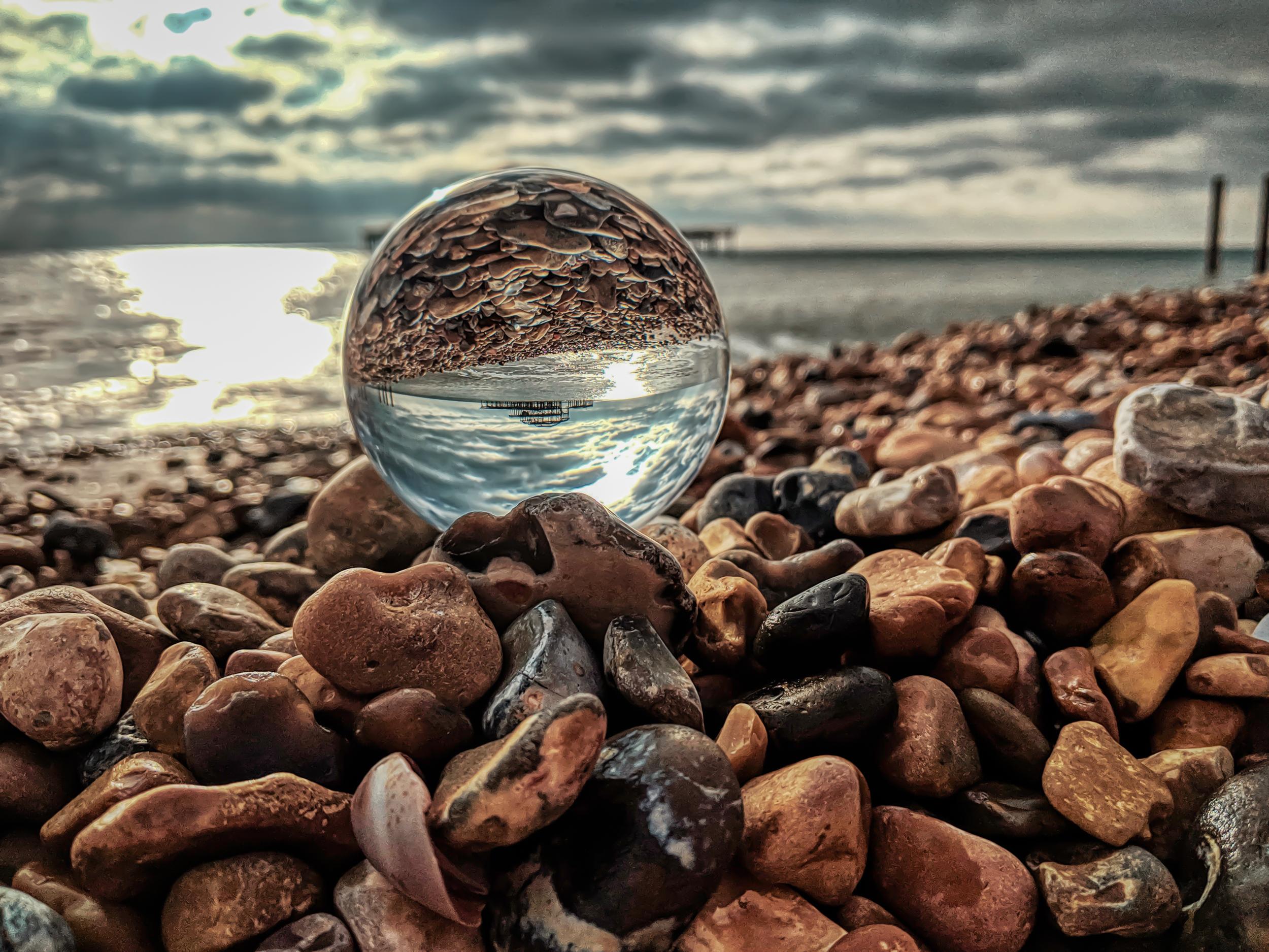 Brighton West Pier Lensball Photography