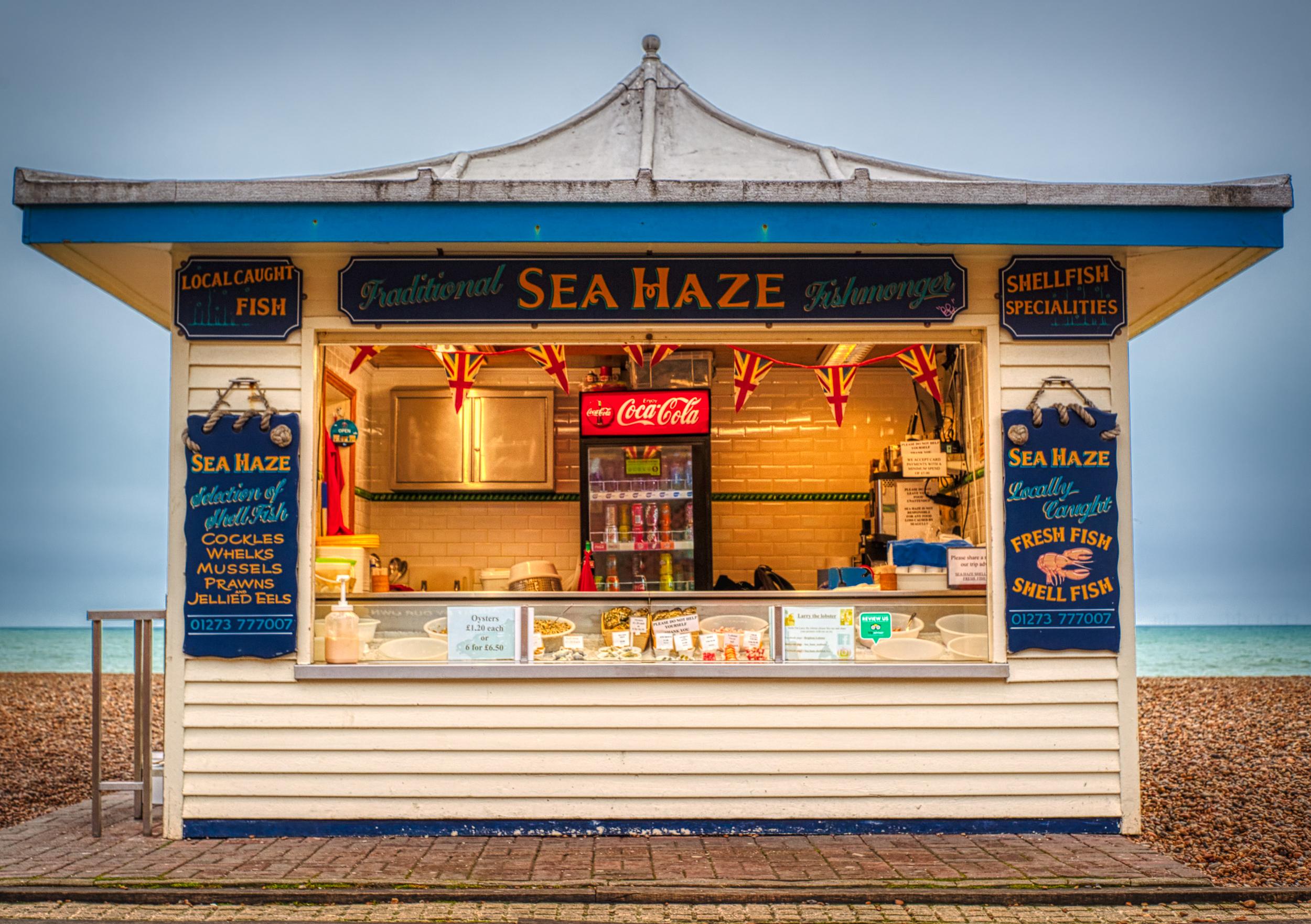 Fish Stall Brighton Sea Front