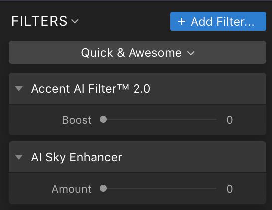 Accent AI Filter & AI Sky Enhancer