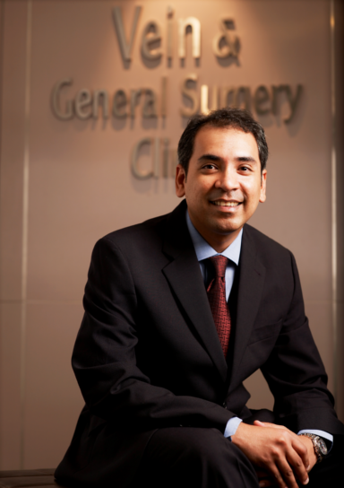 Dr Sanjay in suit
