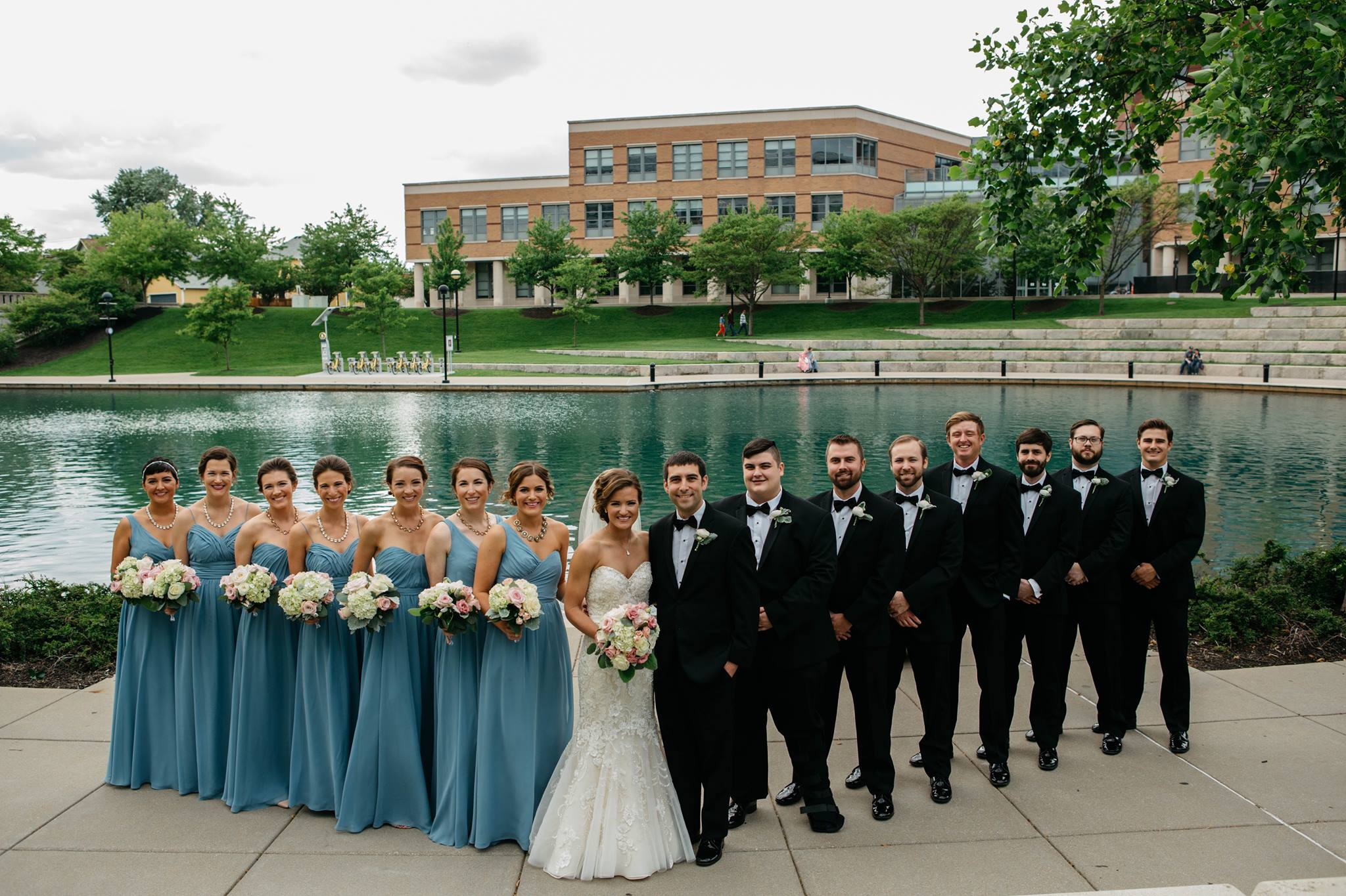 It's a family affair -- when the groom's family owns a bridal shop you know everyone in the bridal party was outfitted by Treat's. Congrats to Kayla and Tim! Photo by   Gretchen Robards Photography .