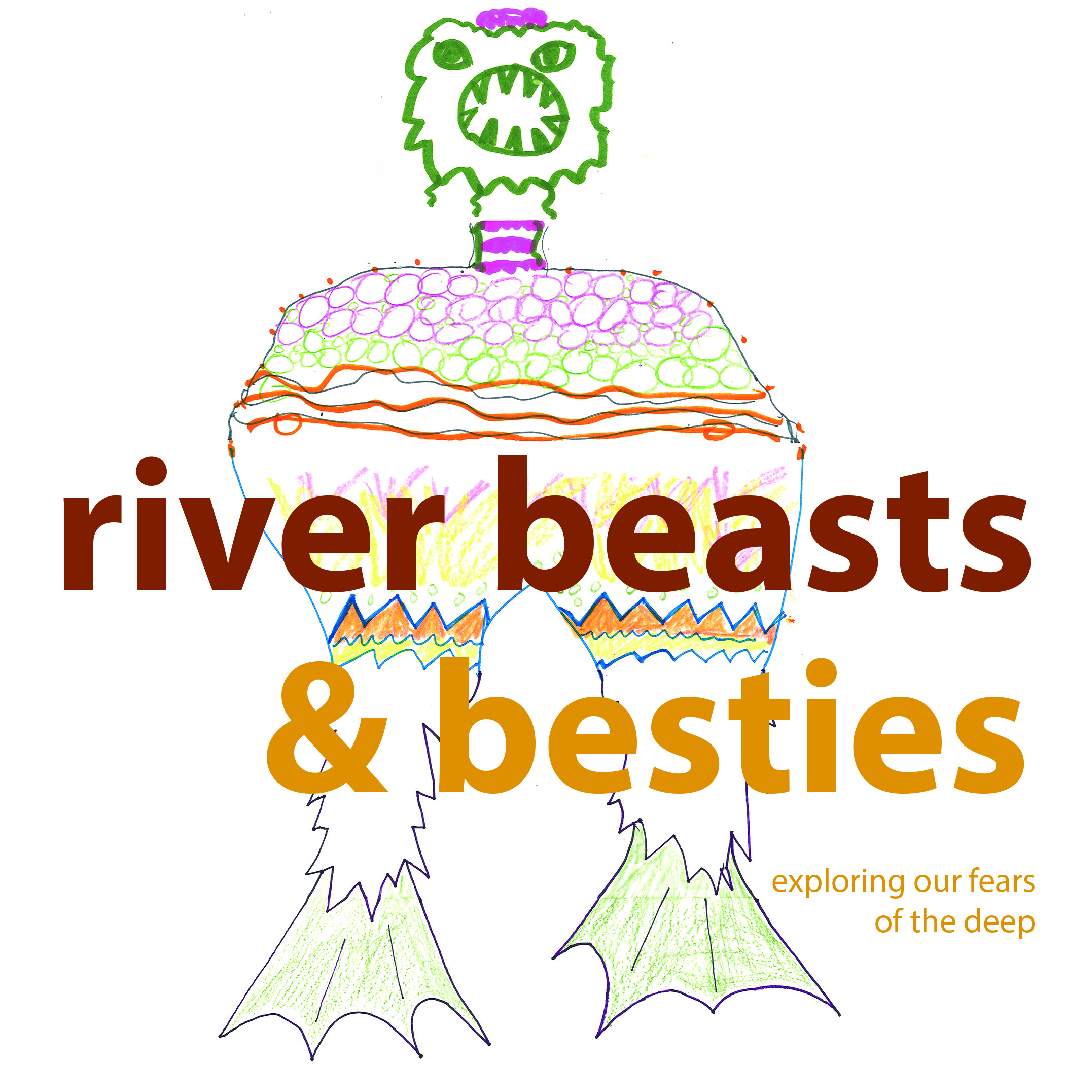 "River Beasts , B. Uzwiak, 2018. All artwork made by participants in ""Monsters of the Deep, Myths for the Future,"" funded by Penn's Program in Environmental Humanities."
