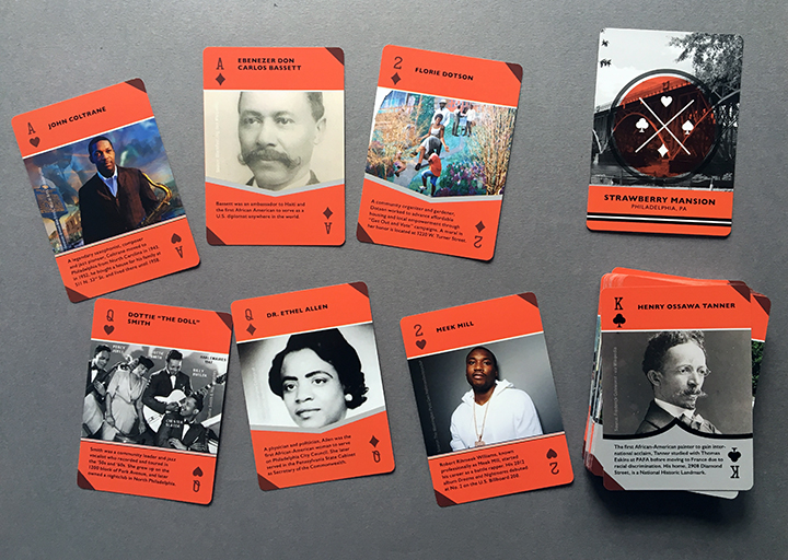 Cultural assest mapping - Phase One of the above project culminated in the production of a deck of playing cards celebrating local people and places in Strawberry Mansion.