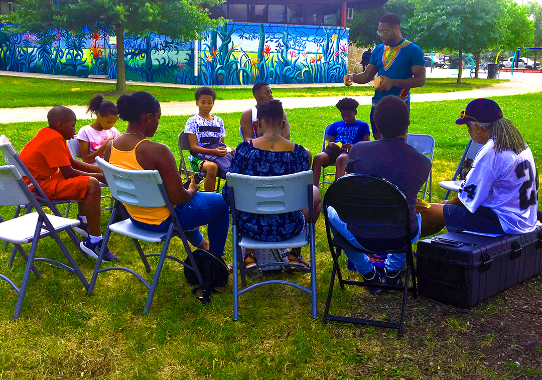 Youth-led research - Chidi Asoluka at The New Community Project partnered with us to lead youth roundtables as part of our work in Strawberry Mansion. Partially funded by the Hatch Lab, The Alliance for Media Arts + Culture.