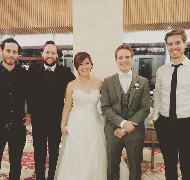 Congratulations Annie and Mike!  @shangrilato @blushandbowties #torontoweddings #fallwedding #jazz #toronto #shangrilato #sidecarmusic