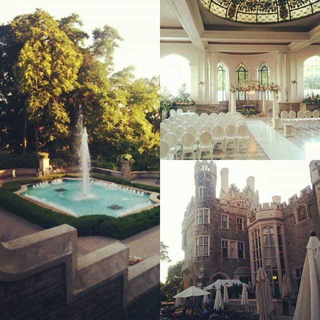 Everything is coming together beautifully for Helen & Alex @casalomatoronto! #torontowedding #casaloma #toronto #beautifulbuildings