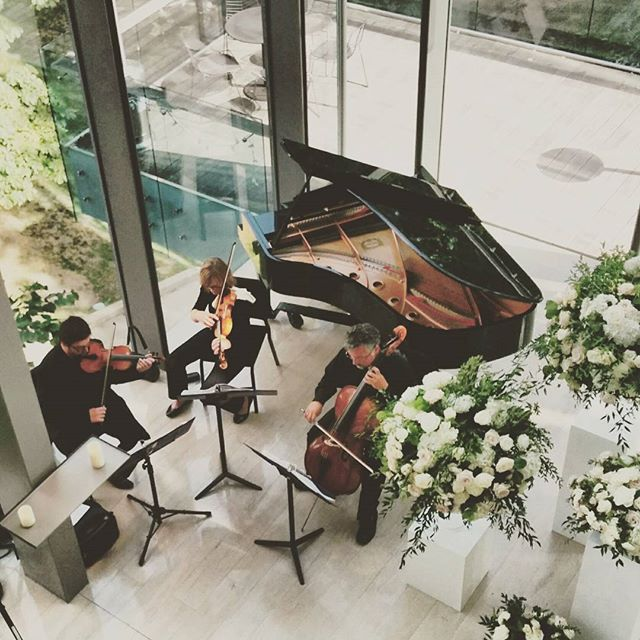 Beautiful start to the celebration for Ashley & John! #royalconservatoryofmusic #strings #torontowedding #beautifulmusic