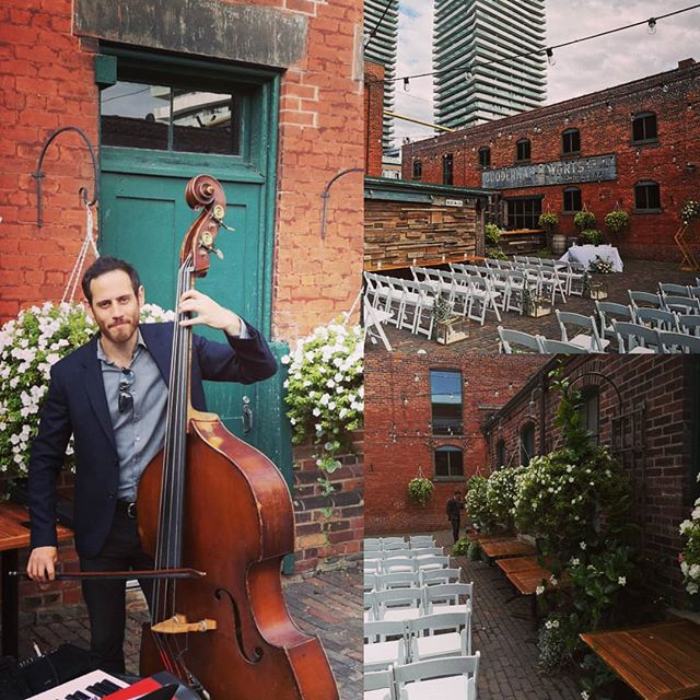 Congratulations Michelle & Mike!Beautiful night @archeotoronto #torontowedding #torontomusic #distillerydistrict #torontojazz #torontoweddingband