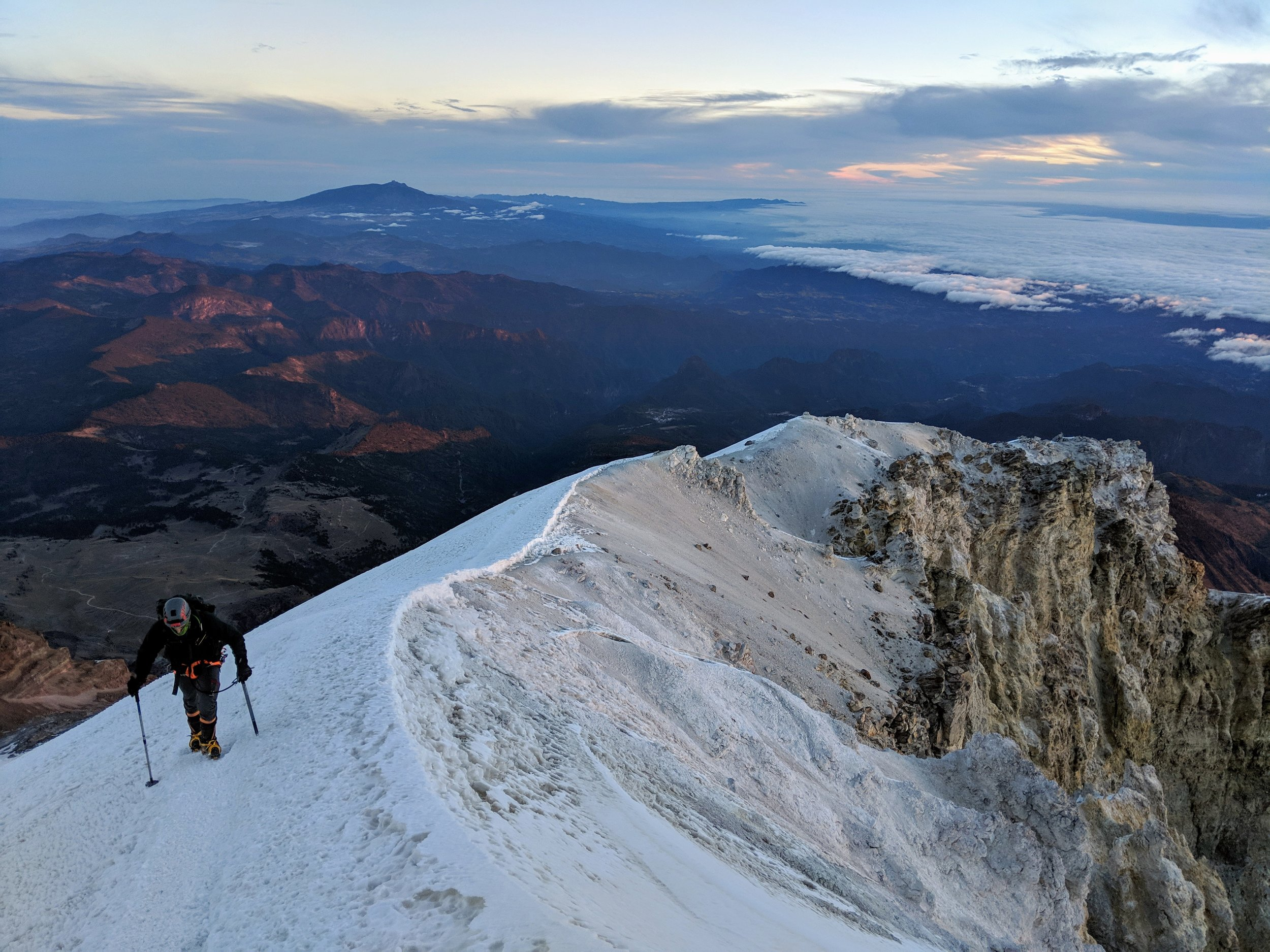 On the Ridgeline summit of Pico de Orizaba.
