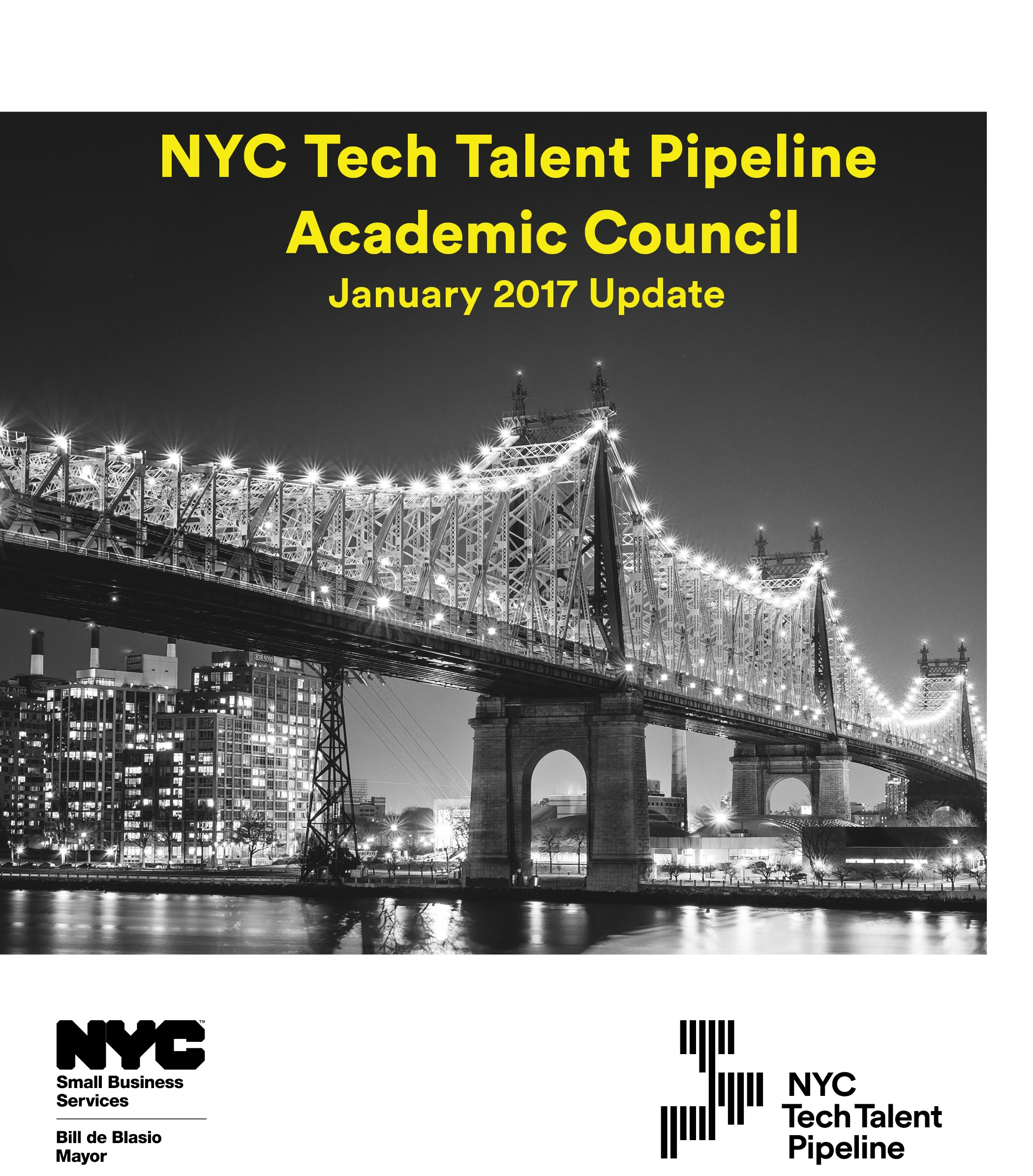 The following academic institutions have committed to working with the NYC Tech Talent Pipeline to ensure the alignment of computer science education and tech workforce needs across the five boroughs.   Borough of Manhattan Community College, The City College of New York, College of Staten Island, The Fu Foundation School of Engineering and Applied Sciences at Columbia University, Cornell Tech, Hunter College, John Jay College of Criminal Justice, LaGuardia Community College, Lehman College, Macaulay Honors College, New York City College of Technology, NYU Tandon School of Engineering, Pace University, Pratt Institute, and Queens College.