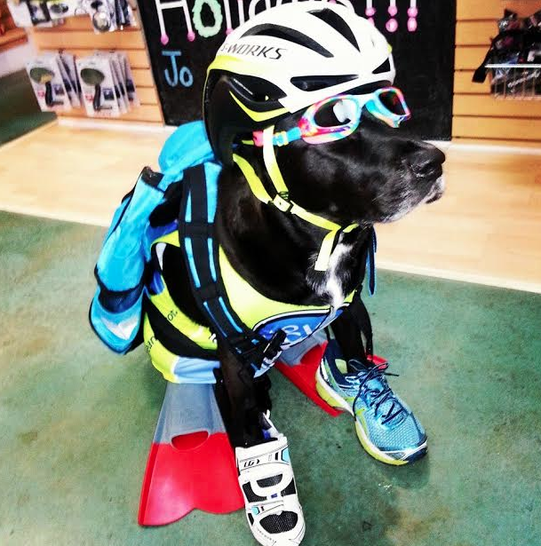 Chip is decked out in his race gear in preparation for #Grandman2016.