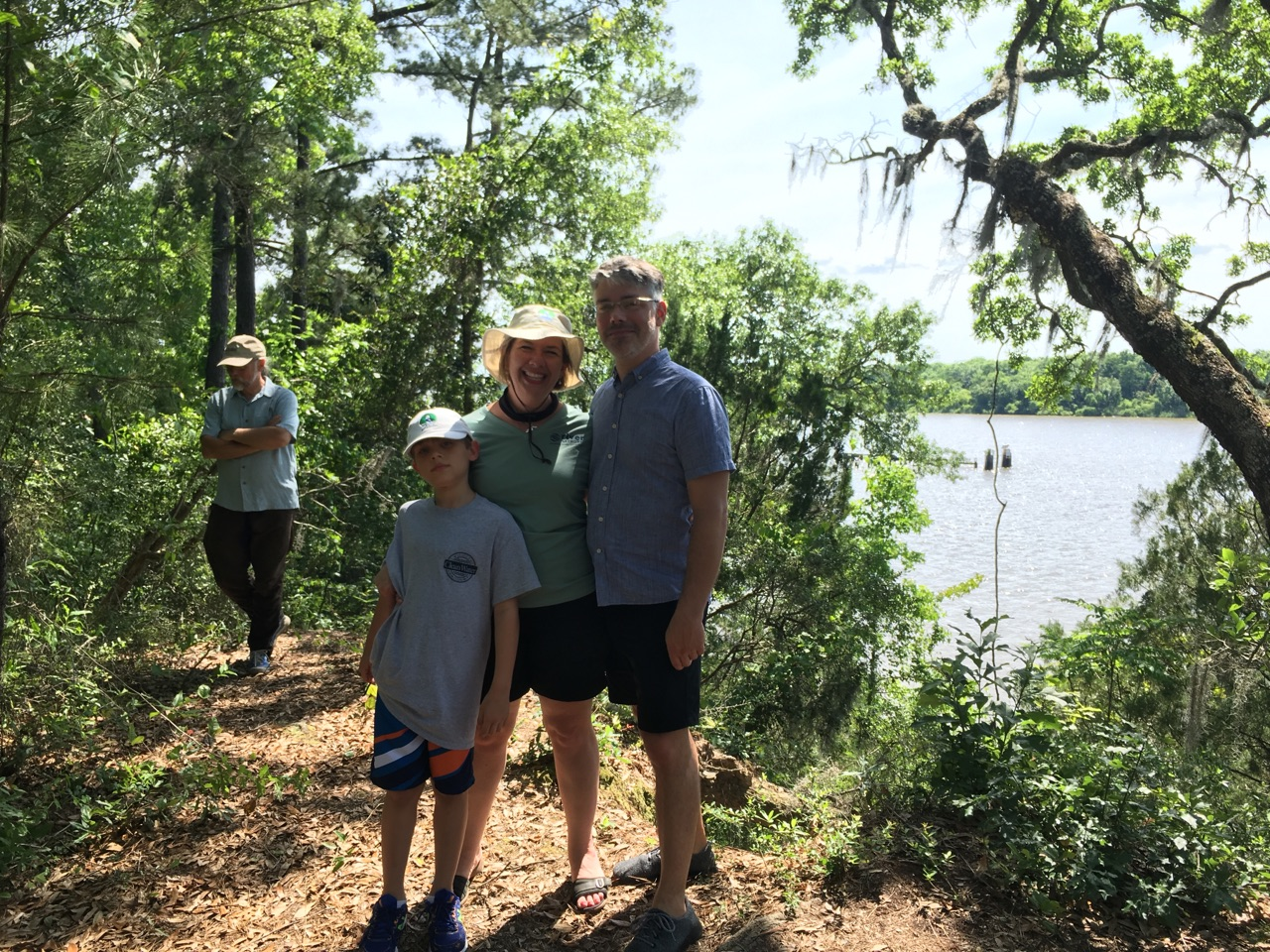 Jarrett (my husband), Coleman (my son), and I exploring the Delta on a field trip during River Rally.