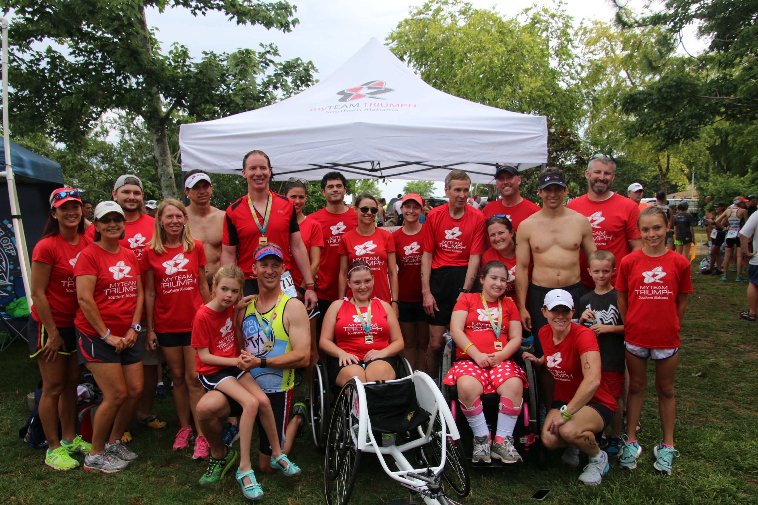 We were thrilled to have myTeam Triumph: Southern Alabama race in the Grandman again this year, with 3 teams participating!