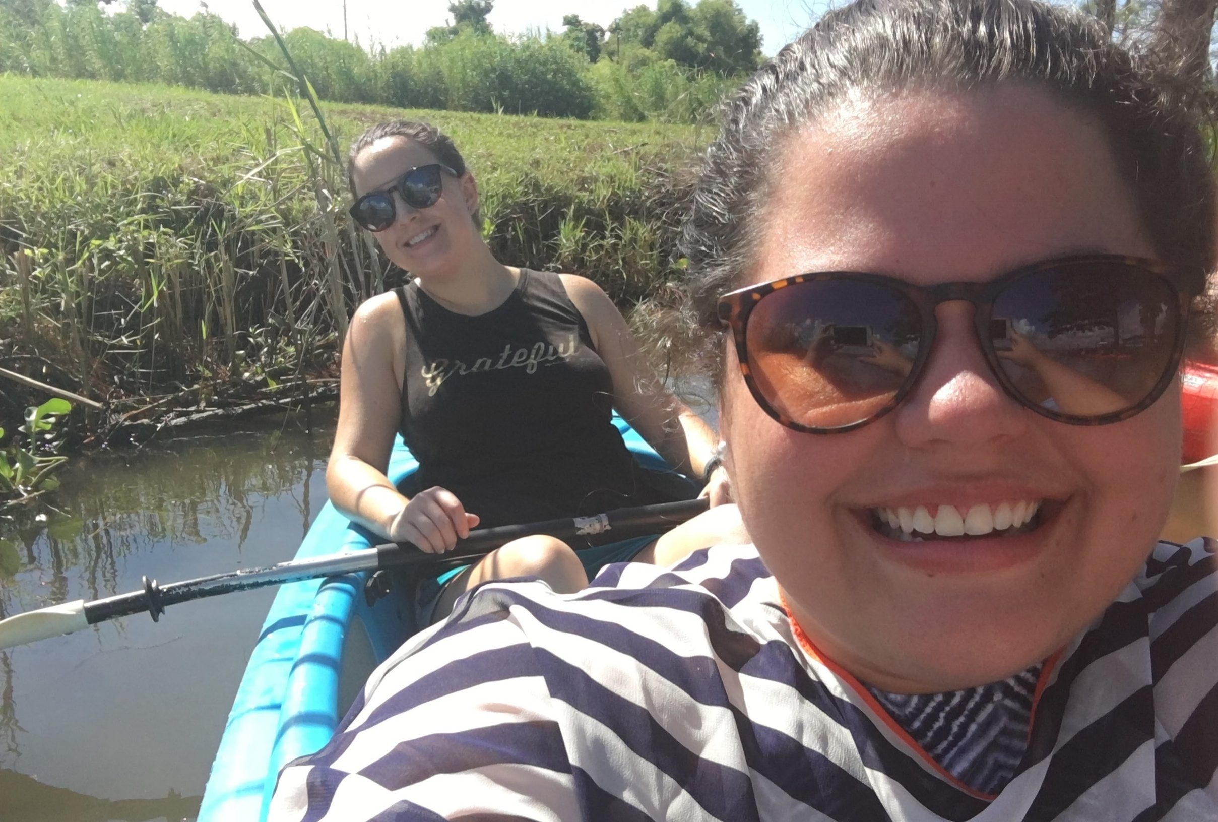 Sara and I put our selfie skills to the test on our first paddling trip to Whiskey Ditch in the Delta.
